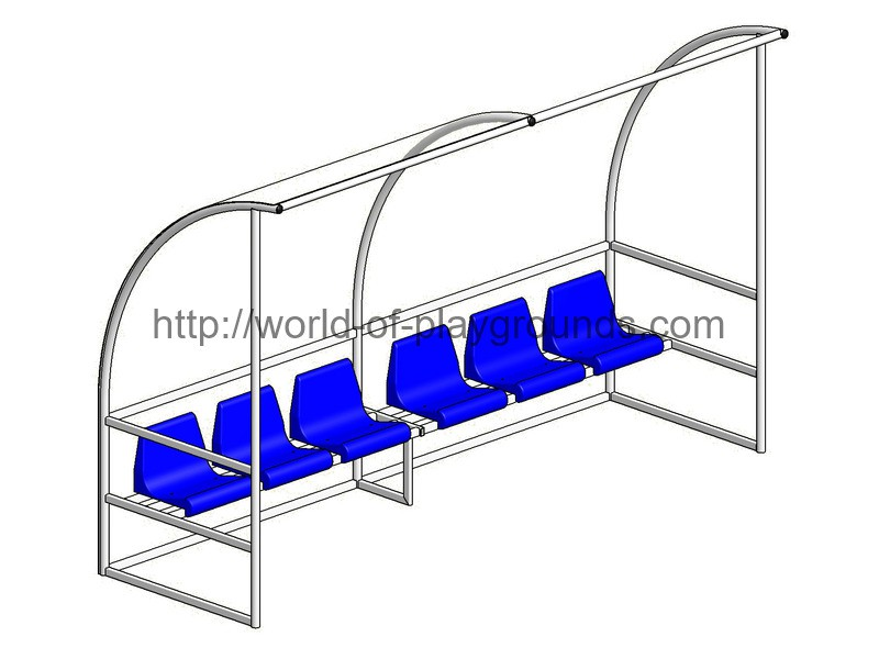 Sub bench for 6 seats wp1401