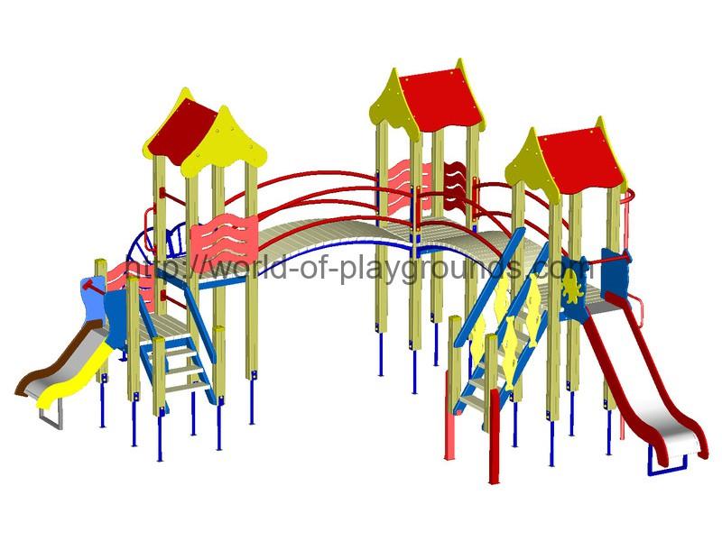 Игровой комплекс (горка 1,2 м; 0,7 м) wp916