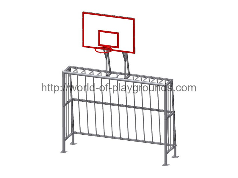 Mini-football goal with basketball stand (no nets) wp1403