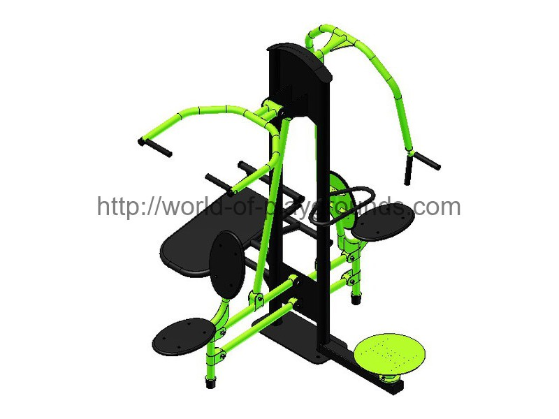 Chest press + Pulldown + Abdominal press + Twister wp1325