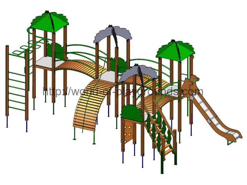Play structure 4 towers (Slide 1,5 м) wp929