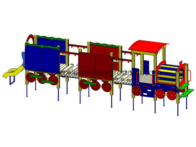 Locomotive with two carriages (0,7 m slide) wp804