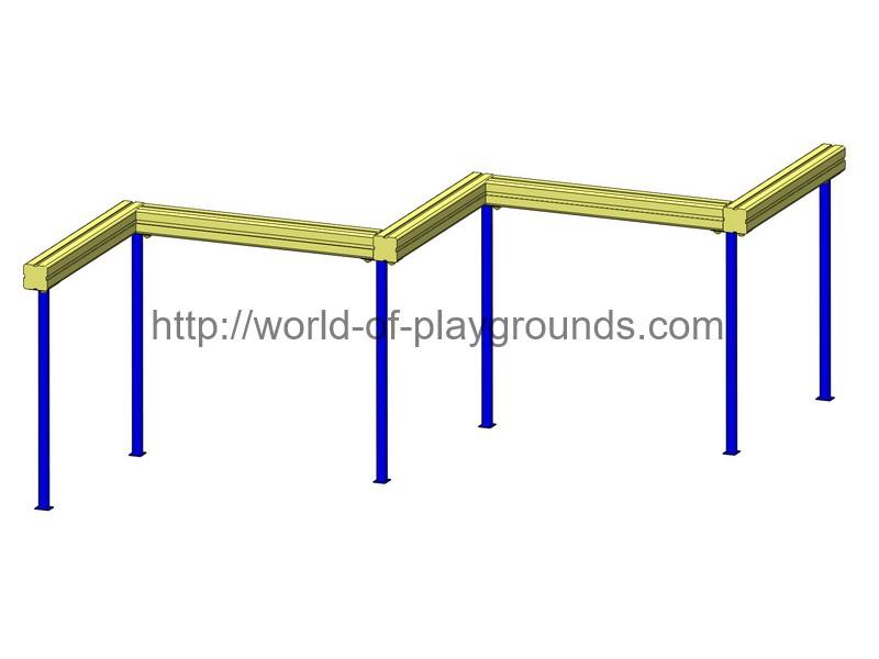 Wooden balance beam zigzag wp1104