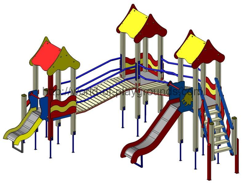 Игровой комплекс (горка 1,2 м; 0,7 м) wp905