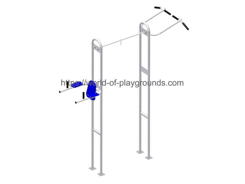 Punch ball stand with a pull-up bar and abdominal crunch support wp1125