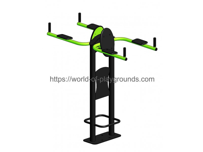 Abdominal crunch with upper arms support wp1313