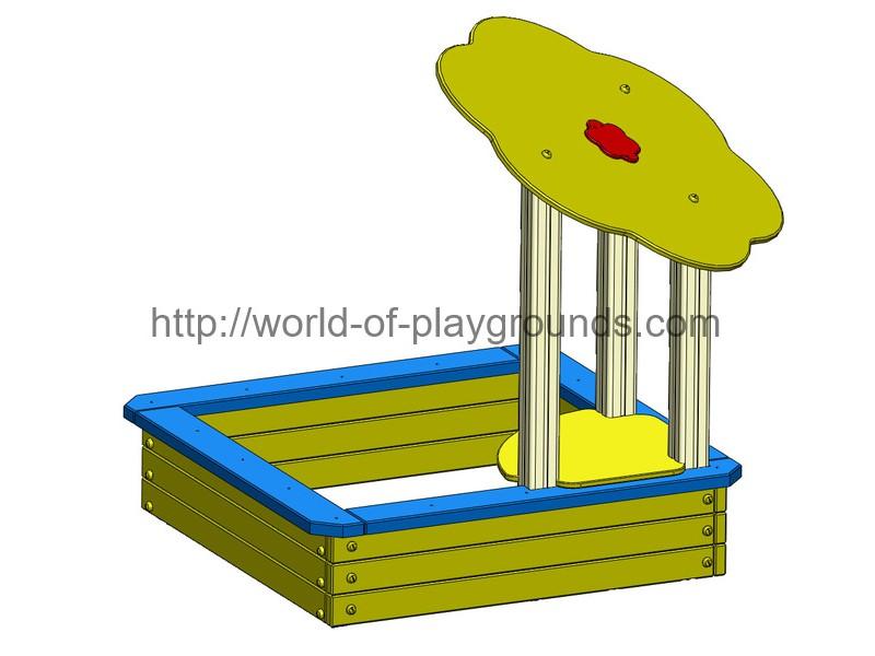 Sandbox with flower wp413