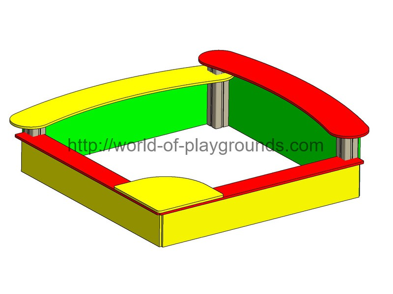 Sandbox with 3-level seats wp416