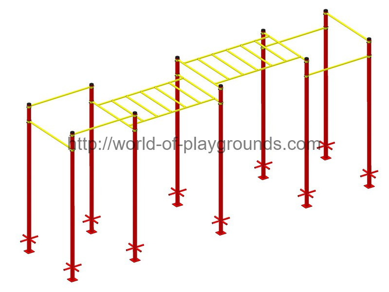 Two-level monkey way, 6 Pull-up bar wp1520