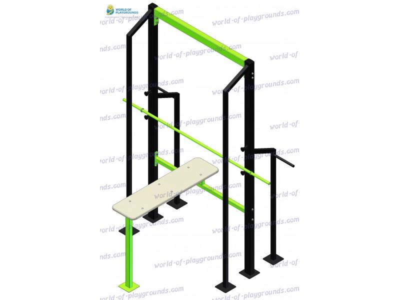 Horisontal barbell press wp1326