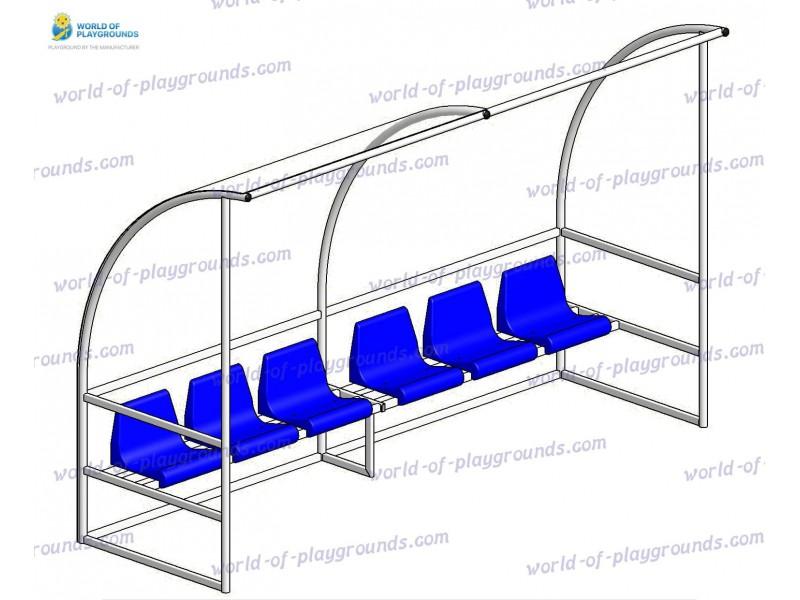 Скамейка запасных на 6 мест wp1401