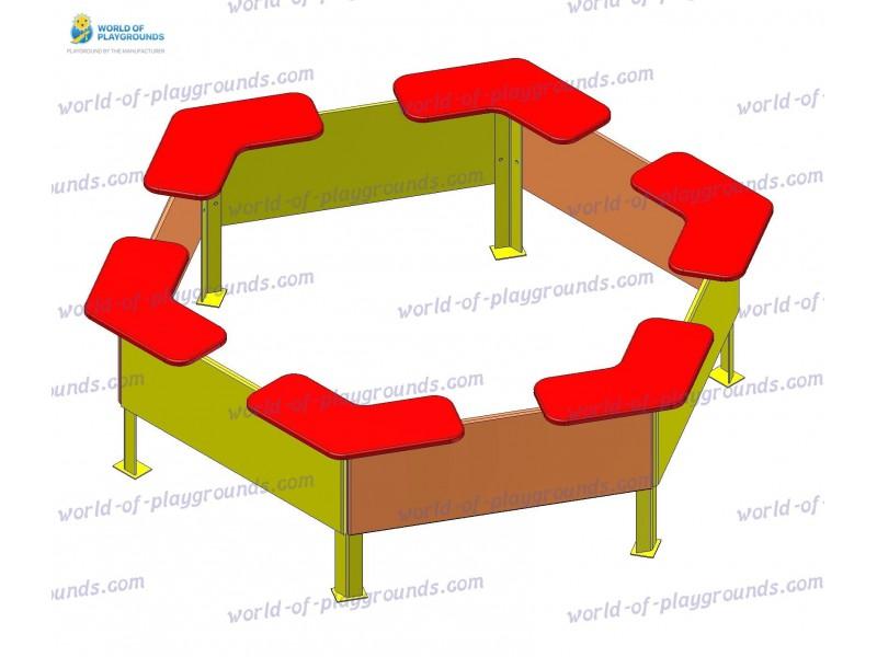 Hexagonal sandbox wp408