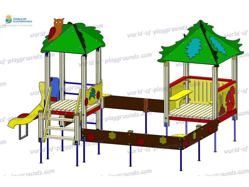 Песочный дворик (горка 0,7 м) wp411