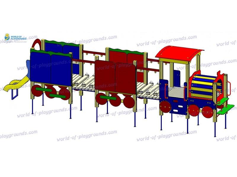 Паровозик с двумя вагонами (горка 0,7 м) wp804